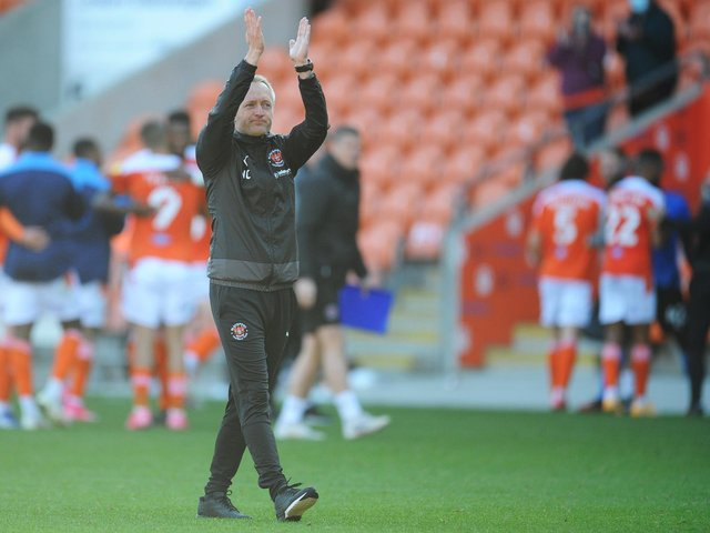 Neil Critchley applauds the fans able to watch Blackpool's game with Swindon Town