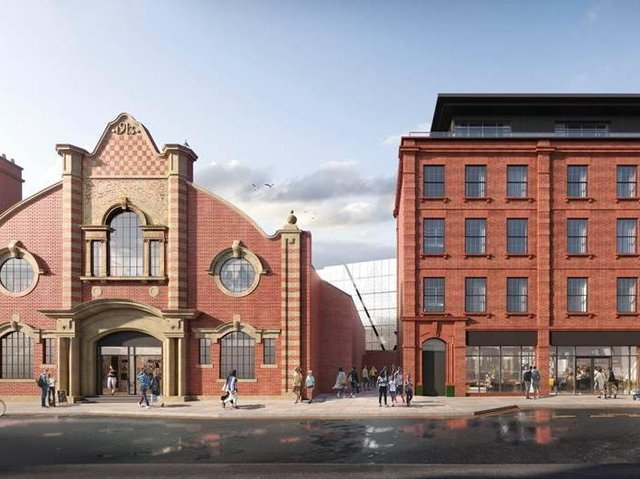 An artist's impression of how the revamped former King Edward Cinema and apartments will look