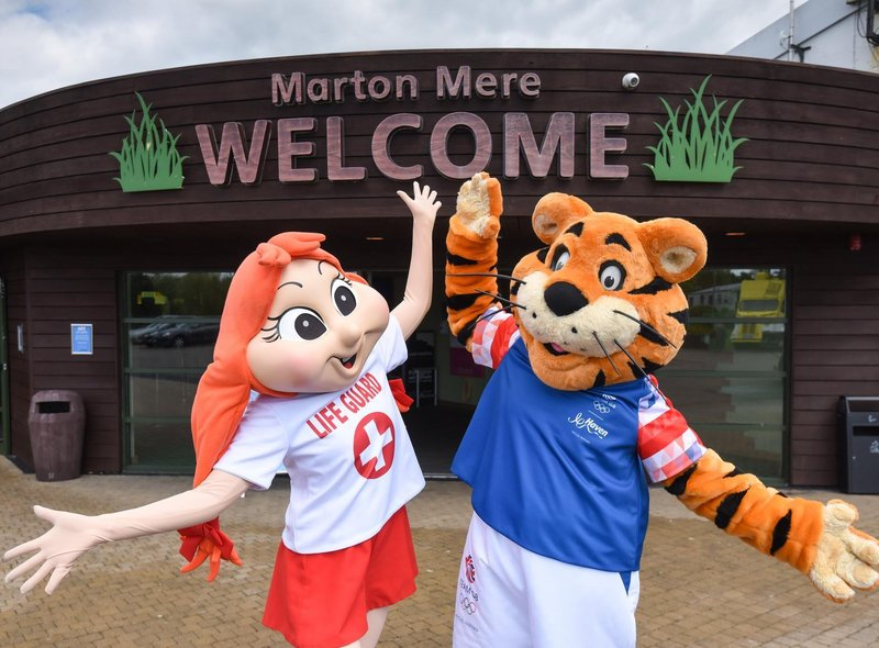 Parents can rely on Haven's mascots to keep their children entertained throughout their stay at parks around the country. Pictured are Polly and Rory the Tiger.