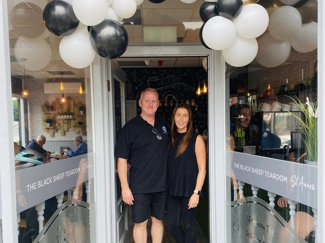 Jamie and Melanie Croasdale of the Black Sheep Tea Rooms in St Annes and Lytham