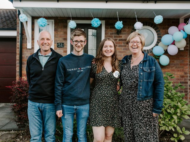 Joanne and Peter Rossall with son Harry and daughter Charlotte, from Kirkham, are fundraising for Rosemere Cancer Foundation