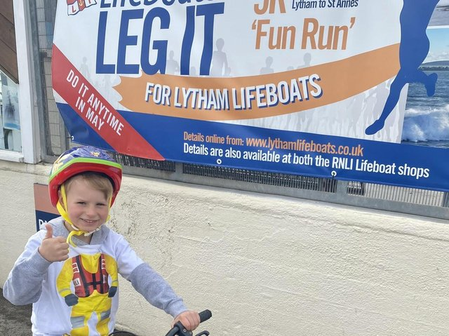Henry at the Lytham RNLI boathouse