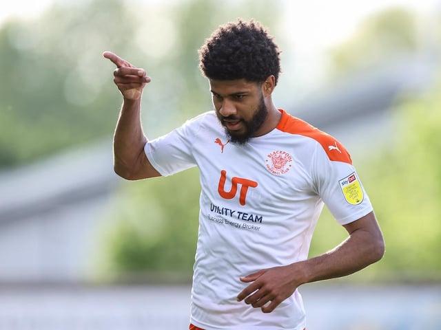Ellis Simms bagged a brace during Blackpool's 3-0 win last night
