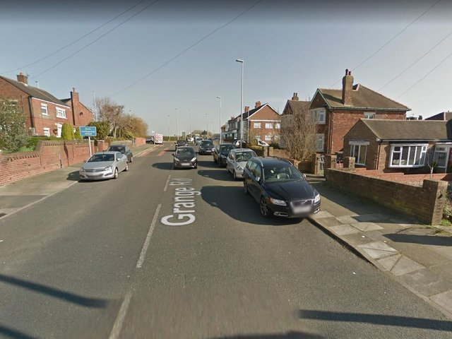 Grange Road in Blackpool is closed in both directions, between St Walburga's Road/A587 and Kingscote Drive, following a crash this morning (May 19). Pic: Google