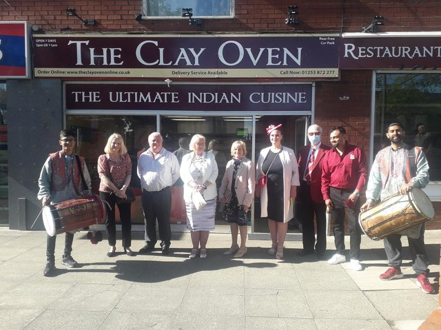 The official launch of the Clay Oven Indian restaurant in Thornton