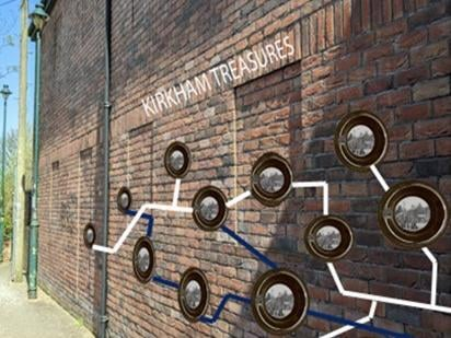 An artist's impression of the Talking Wall