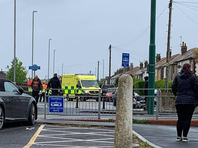 Unconfirmed reports say that the rider has suffered a medical episode, but this has yet to be confirmed by police or the ambulance service