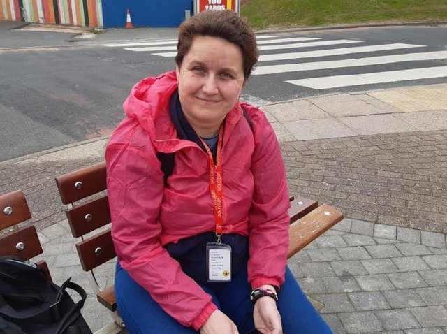 """Chloe Nicol, 37, from Castleford, Yorkshire, said: """"I think the trains are excellent as they are. We came on the train on Tuesday and didn't have any problems, and we use it most of the time. On Mondays and Tuesdays we get the train into Pontefract, and since we have a disabled pass it doesn't cost a lot of money. """"We find they are pretty reliable. I know they delay them sometimes because of the weather, but that's understandable."""""""