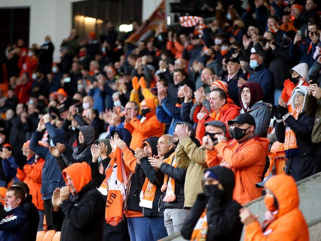 Fans returned to Bloomfield Road for the first time since September 2020
