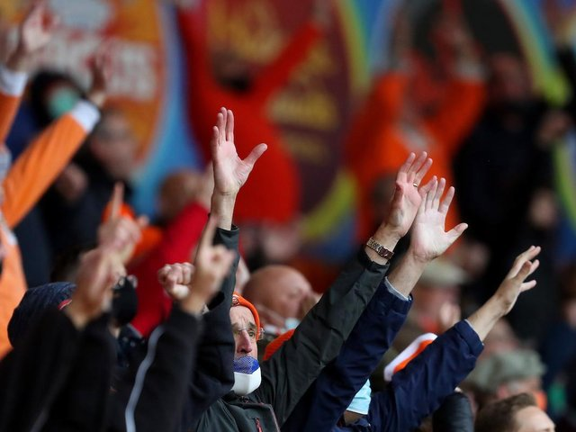 4,000 Seasiders returned to Bloomfield Road and produced a spectacular atmosphere