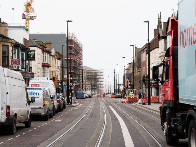 Tram lines in progress