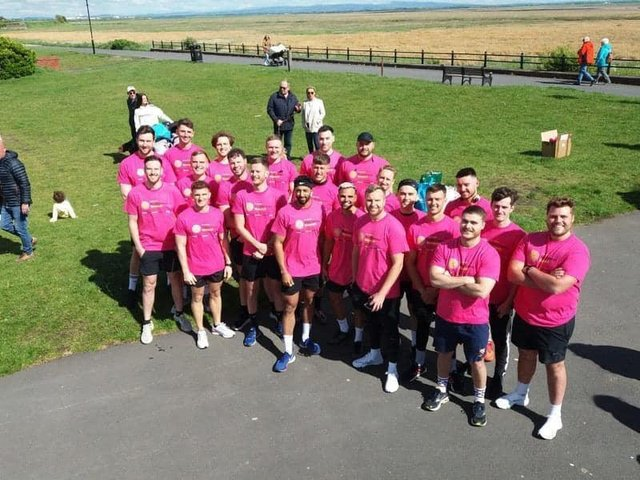Participants taking part in the 10k run in Lytham