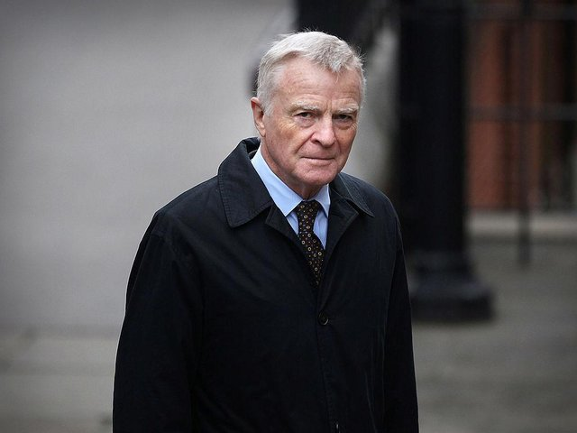 Max Mosley arrives to give evidence at The Leveson Inquiry at The Royal Courts of Justice on November 21, 2011 in London