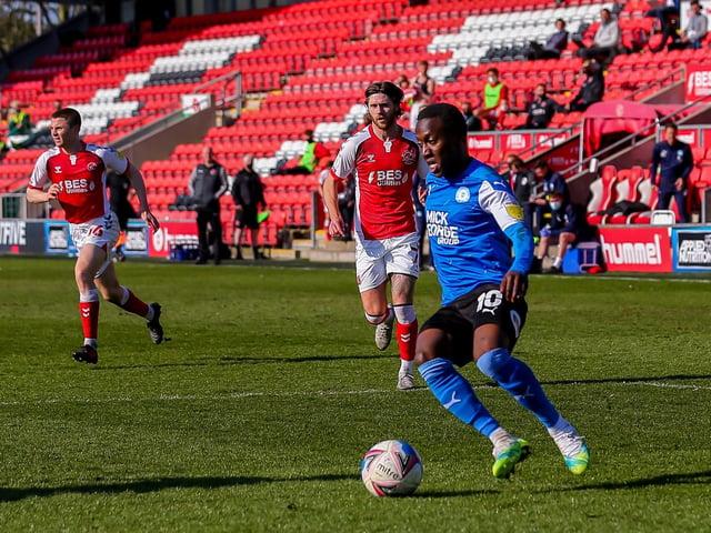 Siriki Dembele in action for Peterborough United this season.