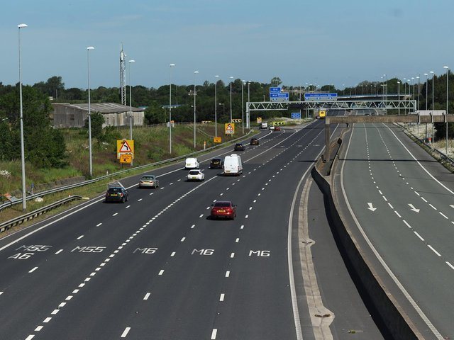 Highways England is warning of closures and diversion on the M6 to M55 sliproads in June