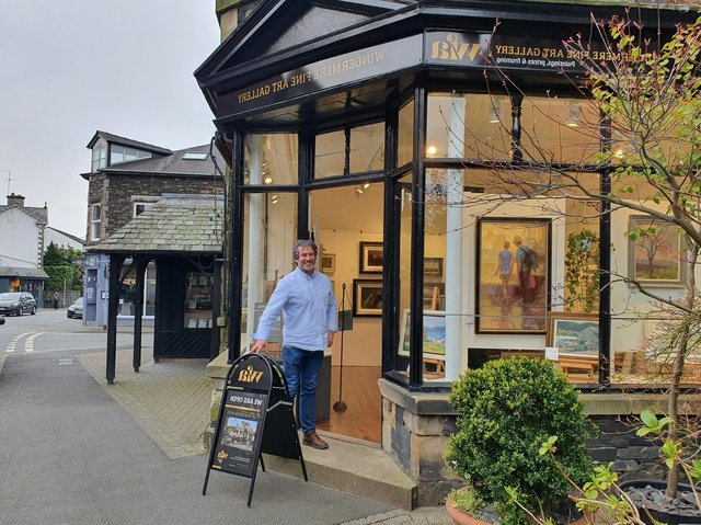 Matthew Titherington, former boss at Sea Life Blackpool, has moved to run an art gallery in Windermere