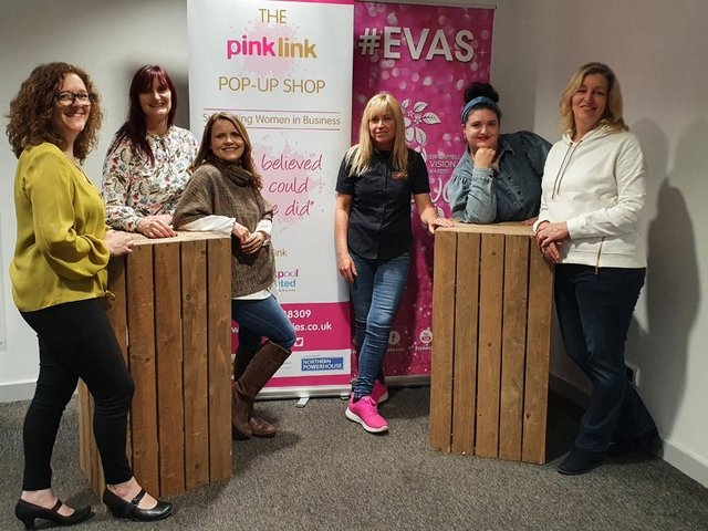 Blackpool-based Pink Link and its business members are staging a pop-up shop in the Houndshill Shopping Centre at May bank holiday to show off their products to shoppers