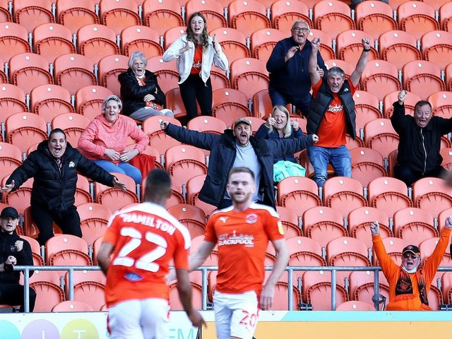 Blackpool played in front of a limited number of fans against Swindon Town
