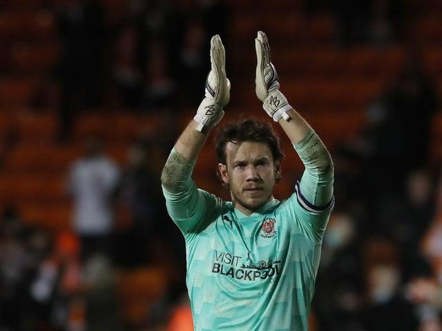 Blackpool captain Chris Maxwell