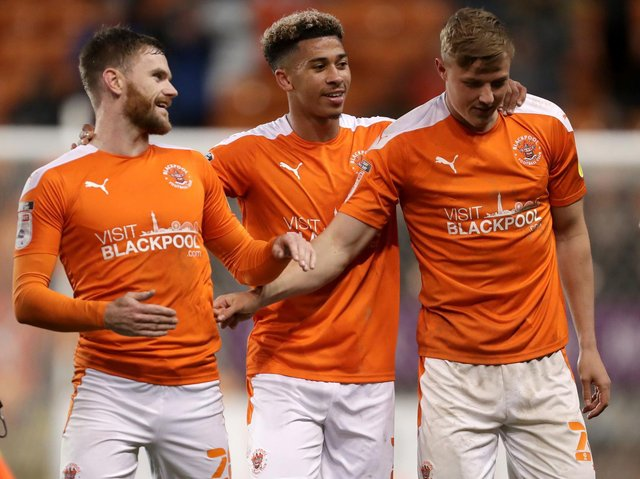 Blackpool's players celebrated play-off semi-final success against Oxford United last week