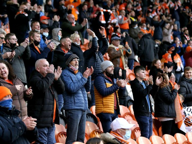 Only a limited number of fans will be at Wembley tomorrow to watch Blackpool
