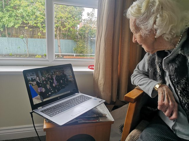 The on--line music sessions have proved a big hit with residents at Pennystone Court