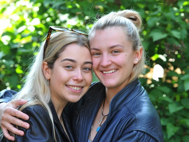 Caitlin McNeil (right) and Millie Tomlinson - their romance grew from friendship (Photo: Michelle Adamson)