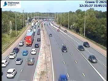 """Motorists travelling to Preston on the M6 have been warned of """"severe delays"""" due to heavy congestion."""