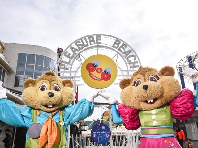 Fun at Blackpool Pleasure Beach today