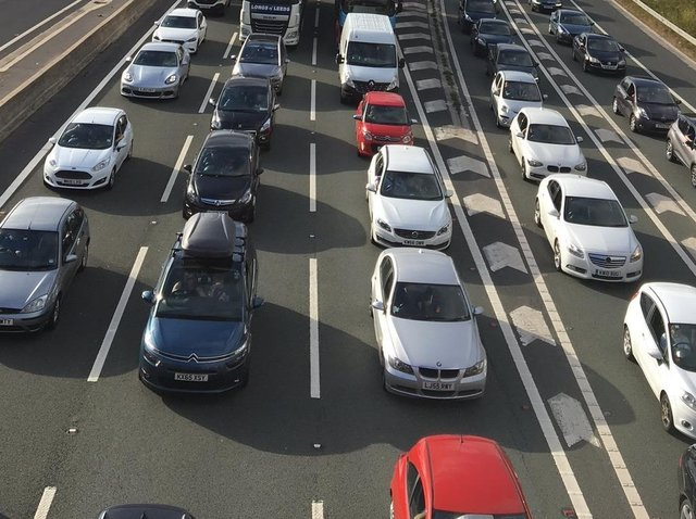 The M6 was closed temporarily (file image)
