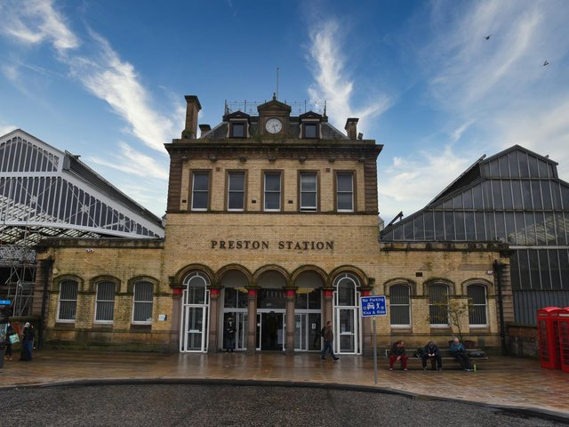 The man was arrested at Preston railway station