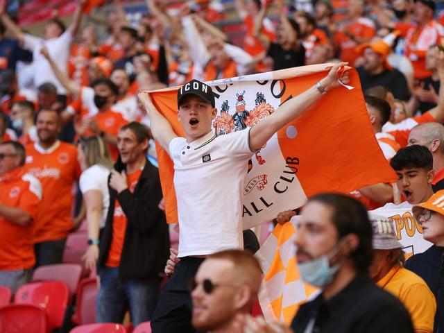 Blackpool fans at Wembley.