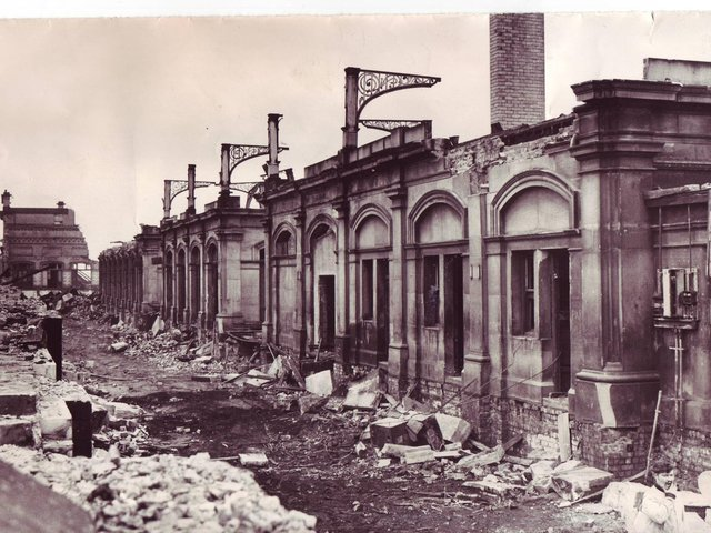 Demolition of Fleetwood's main railway station in the 1960s