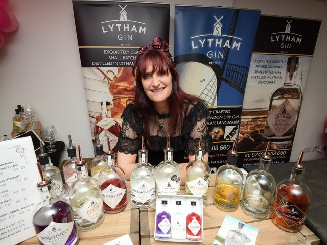 Sara Dewhurst from Lytham Gin at the pop-up shop in the Hohndshill Shopping Centre, Blackpool