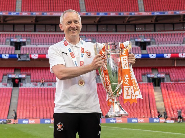 Neil Critchley's first full season in charge ended with a Wembley win