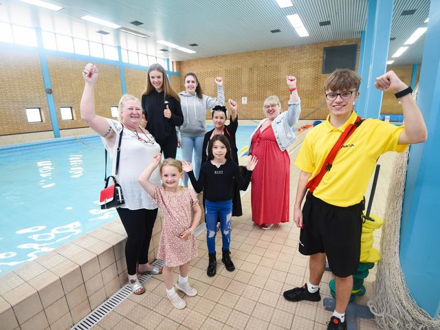 Fleetwood Town Council has funded free swimming for children at the town's YMCA pool. Coun Mary Stirzaker (left), Coun Lorraine Beavers and Coun Cheryl Raynor are pictured with youngsters