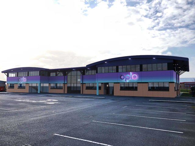 Oplo's Blackpool offices at the airport enterprise zone