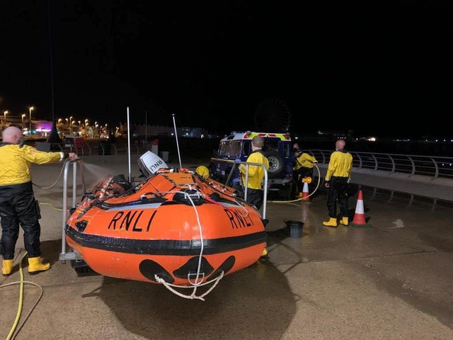 Blackpool RNLI were called out last night