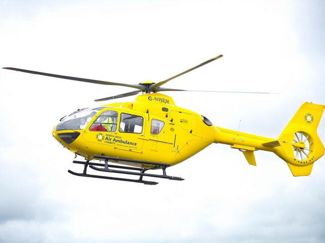 Lancashire Air Ambulance attended a stabbing incident in Preston
