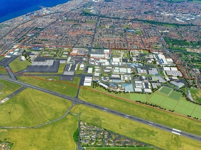 An aerial view of the enterprise zone