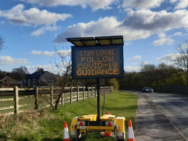 These signs have become a common sight around the North West
