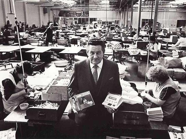 Casdon founder Thomas Cassidy pictured on the shop floor