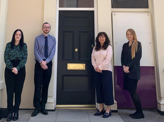 New appointments at Blackpool based Blackhurst Budd Solicitors. From left to right, Georgia Fleming, David Dawson, Sarah Grattan Webster, Kayleigh Green.