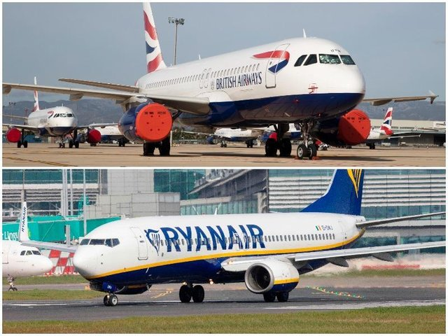 British Airways and Ryanair investigated over flight refunds due to the Covid pandemic.