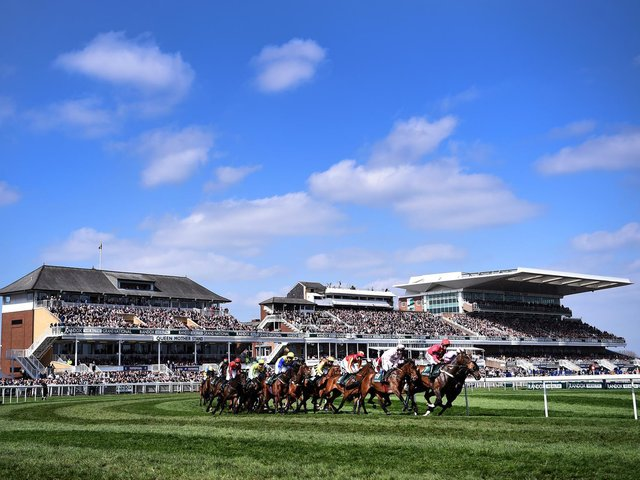 Aintree racecourse stages a twilight seven-race card on Friday evening as crowds once again return to the track