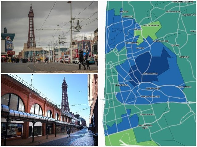 The Blackpool areas where Covid rates have risen as 21 June approaches