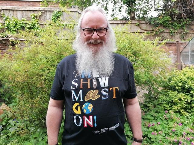 Roger McCann has been growing his beard since March 2020