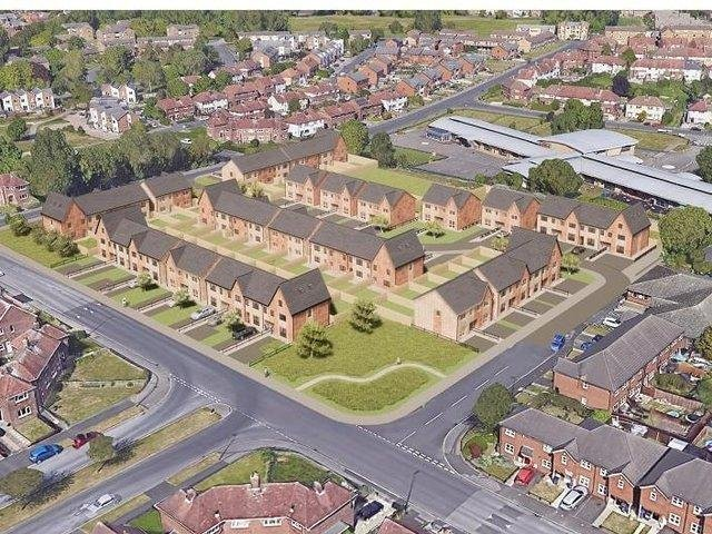 Artist's impression of housing redevelopment plans at Grange Park