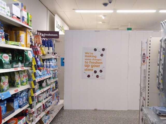 The site of the former pharmacy inside the Sainsburys store in St Annes