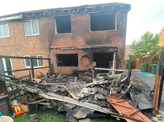 The O'Brien family home at Lytham after the blaze